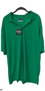 PGA Tour Airflux XL Green Polo Shirt Short Sleeve